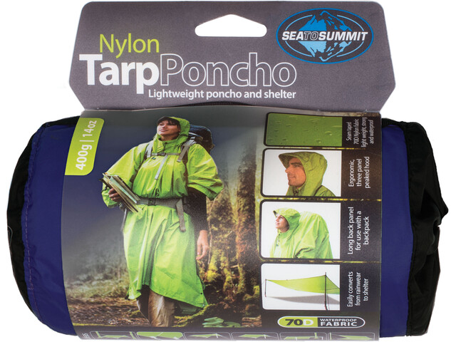 Sea to Summit Nylon Tarp Poncho Waterproof Blue